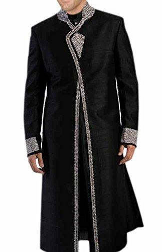 INMONARCH Mens Attractive Designer Sherwani SH160 40XL Black