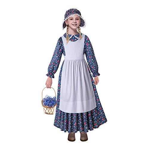 (Pettigirl Girls Pioneer Costume Child Colonial Prairie Dress Up)