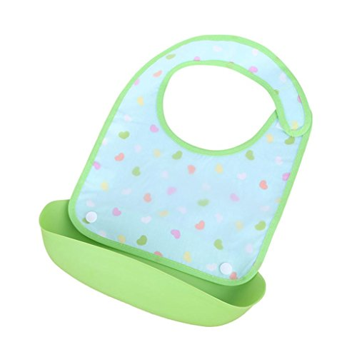 Baby Bib Smock, Iuhan Baby Detachable Kids Boys Girls Waterproof Feeding Apron Saliva Towel Bib Smock (A)