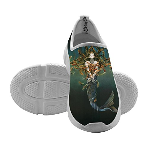 Single Mermaid Kids Flyknit Sneakers Slip-On Loafers Design Elastic Shoes