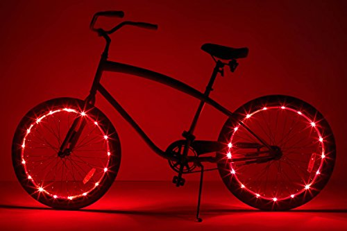 Brightz WheelBrightz LED Bicycle Wheel Accessory Light (2-Pack Bundle for 2 Tires), Red