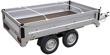 4 Stück Planenbügel 132 204cm Alu Bügel Anhängerplane Anhänger Flachplanenbügel Auto