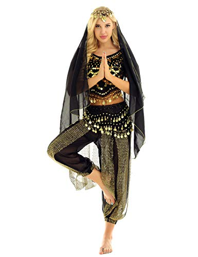 Amazon.com: YiZYiF Womens India Belly Dance Costume Shiny ...