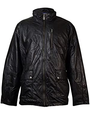 Men's Big & Tall Glove Touch Leather Jacket