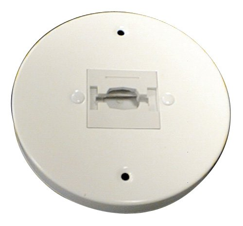 Line Voltage Scoop Wall Washer - Elco Lighting EP819W EP819 Line Voltage Round Monopoint Canopy