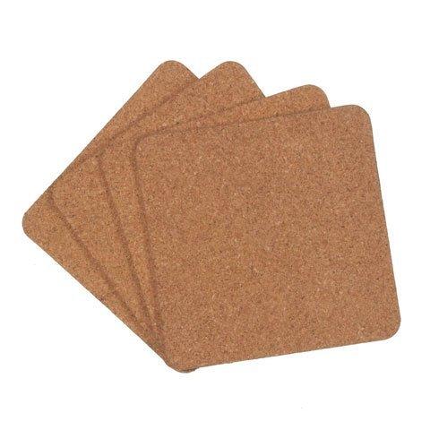 Bulk Buy: Darice DIY Crafts Cork Coaster Set Square 3.92 inches 4 pieces (12-Pack) 4167-057 -