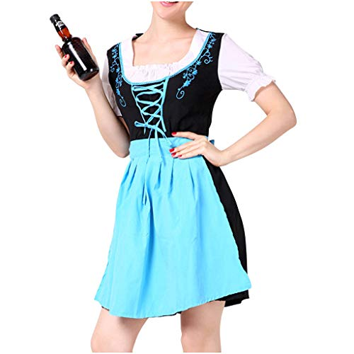 Mikilon Oktoberfest Waitress Party Dress German Bavarian Beer Wench Carnival Halloween Costume Maid Outfit -