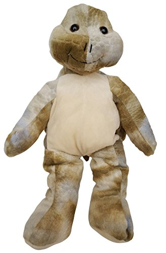 Cuddly Soft 16 inch Stuffed Green Turtle...We stuff 'em...you love (Snapping Turtle Shell)
