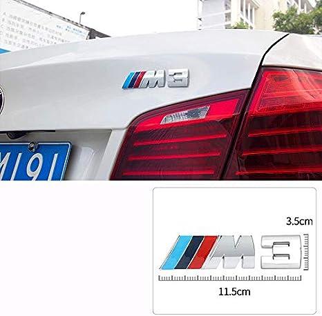 D28JD Logo Emblema para Maletero Trasero Tapa de la Puerta Posterior del Tronco de Metal Letras Etiqueta de Marca B-MW M,Flag,M3