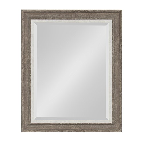 Kate and Laurel Woodway Framed Wall Mirror, 23.5x29.5, Gray