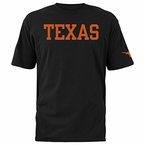 Silver Star Casting (Silver Star Casting Company Texas Longhorns Adult NCAA Block Logo T-Shirt - Black, Large)