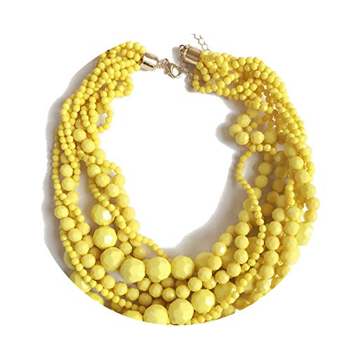 Vindictus Costumes - Yellow Dark Red Statement Acrylic Beads