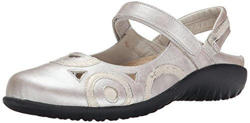 Leather Leather Naot Silver Mary Women's Jane Dusty Flat Quartz Rongo 6wZUqwAY