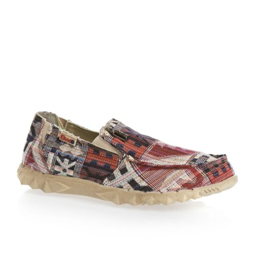 Dude Farty Mens Shoes Incas Red