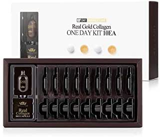 WELLAGE Real Gold Collagen BIO Capsule Solution Elastic lifting Anti-aging (10PCS Golden)