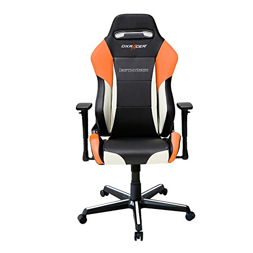Cheap DXRacer Drifting Series DOH/DM61/NWO Newedge Edition Racing Bucket Seat Office Chair Gaming Chair Ergonomic Computer Chair eSports Desk Executive Chair Furniture With Pillows (Black/White/Orange)