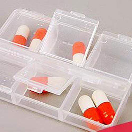 Florencinid Caja Clamshell Caja de la Medicina portátil Transparente HQS-y21934 Colores (Seis celosía)
