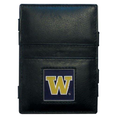 Siskiyou NCAA Washington Huskies Leather Jacob's Ladder Wallet