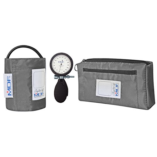 MDF® Bravata® Palm Aneroid Sphygmomanometer - Blood Pressure Monitor with Adult Sized Cuff Included - Grey (MDF848XPD-12) by MDF Instruments