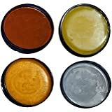 Chalk Mountain Brushes 4 Pack All Natural Furniture Finishing Wax Kit (4Pack Shimmer Kit)