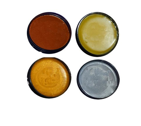Price comparison product image 4 Pack Wax Kit - 4oz Furniture Finishing Waxes - Antique Bronze,  Clear (natural),  Gold Mine & Silver Mountain - 100% ALL NATURAL - SAFE TO USE INDOORS