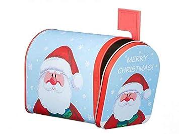 Geldgeschenke Weihnachten.Geschenkdose Weihnachten Briefkasten Mit Weihnachtsmann Geschenkbox Fur Geldgeschenke Wichtelges