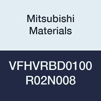 4 Irregular Helix Flutes Short 8 mm Neck Length 1 mm LOC 0.2 mm Corner Radius Mitsubishi Materials VFHVRBD0100R02N008 VFHVRB Series Carbide Impact Miracle Corner Radius End Mill 1 mm Cut Dia