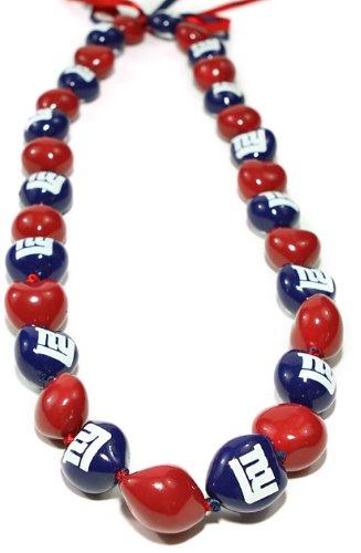 NFL New York Giants Go Nuts Kukui Nut Lei Necklace