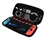 MNtech NEW Tough Case Pouch Travel Carry Bag Case Box For Nintendo Switch Console (Black)
