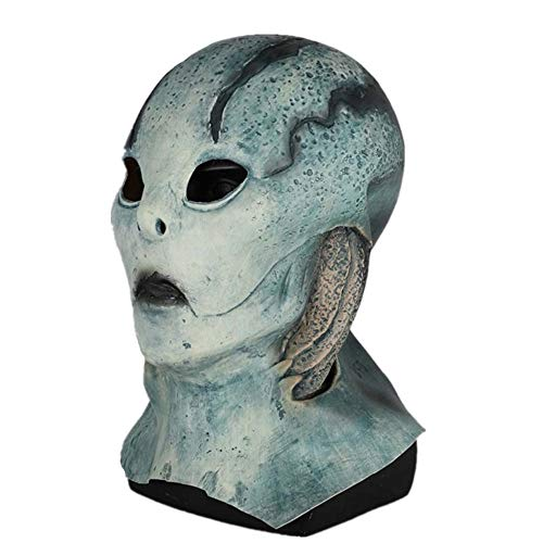 ke 2019 Latest Movie Hellboy: Rise of The Blood Queen cos Fish mask Halloween Costume Adult Full Helmet -