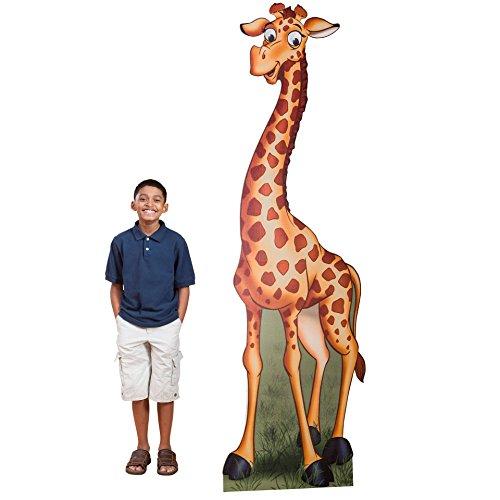(7 ft. 2 in. Jungle Safari Giraffe Standee Standup Photo Booth Prop Background Backdrop Party Decoration Decor Scene Setter Cardboard Cutout)