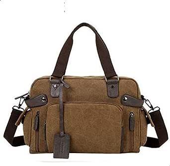 حقيبة كتف للرجال النسخة الكورية عارضة رسول حقيبة قماش حقيبة كمبيوتر ريترو BY-61B Coffee