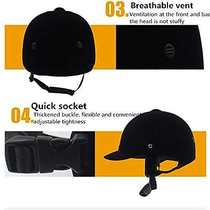 EDTara Equestrian Hat Helmet High Strength Performance Riding Helmets Breathable Equestrian Protective Gear Equipment