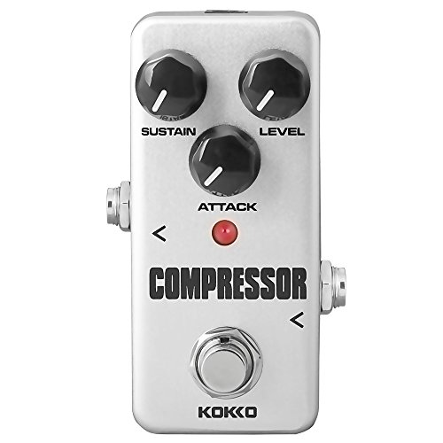 Compressor Guitar Pedal, Mini Effect Processor Fully Analog Circuit Universal for Guitar and Bass, Exclude Power Adapter - KOKKO (FCP2) - Pedal Compression