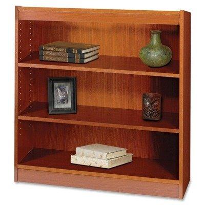 (Safco 3-Shelf Square-Edge Veneer Bookcase (Recyclable Content) -)