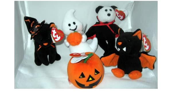 a5ecc920f4b Amazon.com  TY Halloweenie Beanie Babies - Halloween 2010 Complete set of 5  (glow