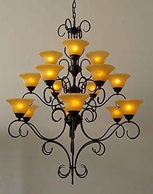"Wrought Iron Chandelier Chandeliers Lighting H47"" X W40"""