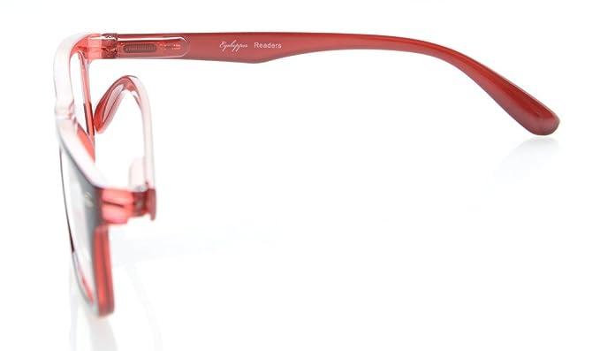 Eyekepper I lettori Primavera-cerniere di qualità classico stile vintage occhiali da lettura Nero-Rosso+2.00 S0MP4x1D