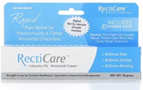 RectiCare Anorectal Cream 1 oz (30g) (Pack of 5) by Recticare