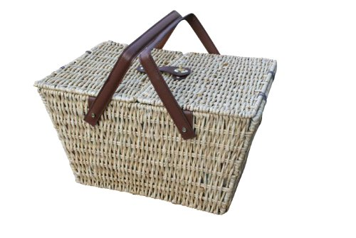 Picknickkorb-honigbraun