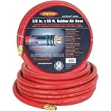 Legacy Workforce 3/8 X 50 Rubber Air Hose 1/4 Ends