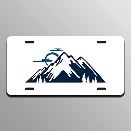 Mountains Printed Vanity Front License Plate Tag KCFP175