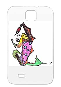 Anti-drop Dancer Painting Drawing Dancing Children Abstract Art Design Art Protective Case For Sumsang Galaxy S4 Black Dancer