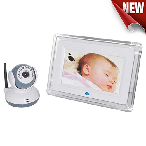 Baby Monitor,Ounice 2.4G Wireless Digital Baby Monitor 7inch TFT LCD Receiveer + Night Vision Camera Audio Video Two-Way Support 4 Cameras for One Receiver