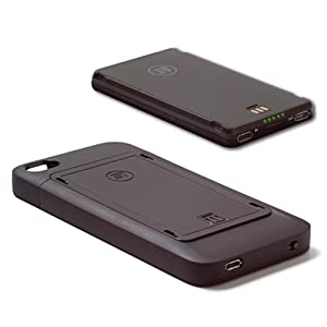 Third Rail Trio Slim Protective Case and Fuel Universal Rechargeable External Smart Battery Combo Kit for iPhone 4 and 4S by Third Rail Mobility, LLC