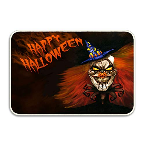 Elvira Jasper Halloween Clown Welcome Doormats Entrance Rug Floor Rubber for Garage, Patio, High Traffic Areas]()