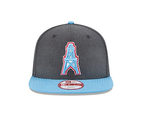 fe0a37136b8cc NFL Houston Oilers New Era Historic Heather Graphite 9FIFTY Original Fit Cap