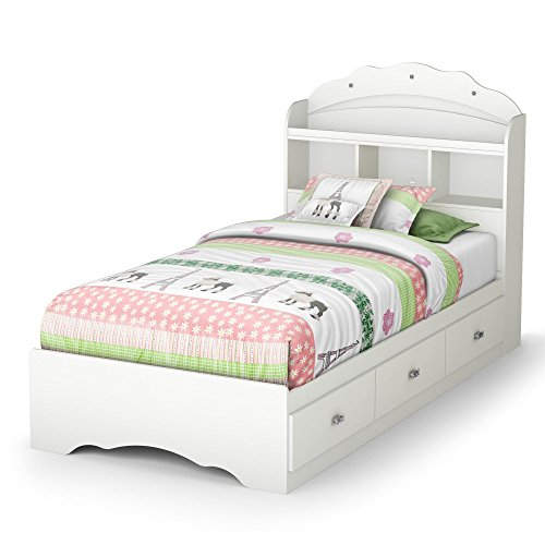 Tiara Twin Mate's Bed & Bookcase Headboard by South Shore