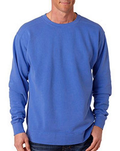 - Comfort Colors Chouinard 1566 Adult Crew Neck Sweatshirt Flo Blue PgmDye Large