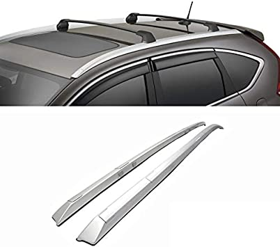 6x Silver Roof Rack Side Rail Luggage Carrier Bars For Honda CRV CR-V 2012-2016